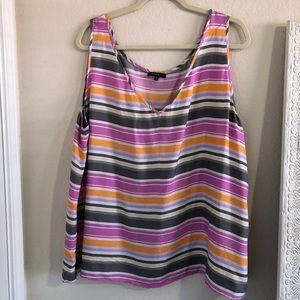 Lafayette 148 striped silk top